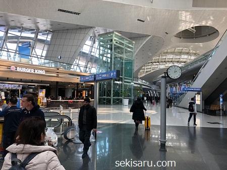 仁川空港の広場