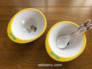 明洞ダイソーのミニオンお皿とスプーン