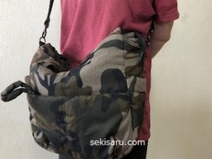 韓国で買った迷彩バッグ