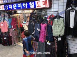 南大門市場の服の画像