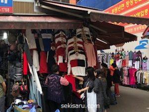 南大門市場のメンズ服店