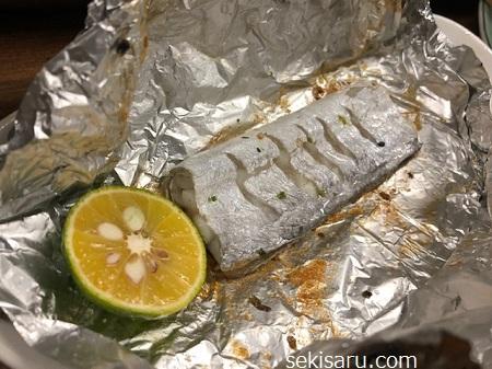 タチウオのホイル焼き