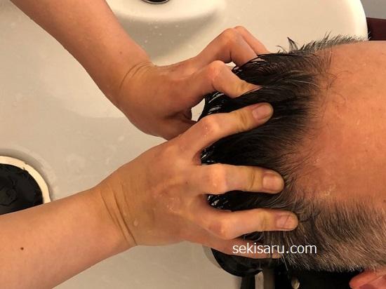 美容院でのヘッドスパ