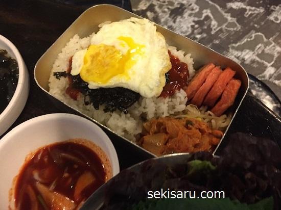 韓国の振って食べる弁当