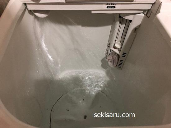 洗濯機に水を溜める