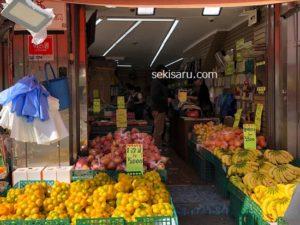 南大門市場の果物店