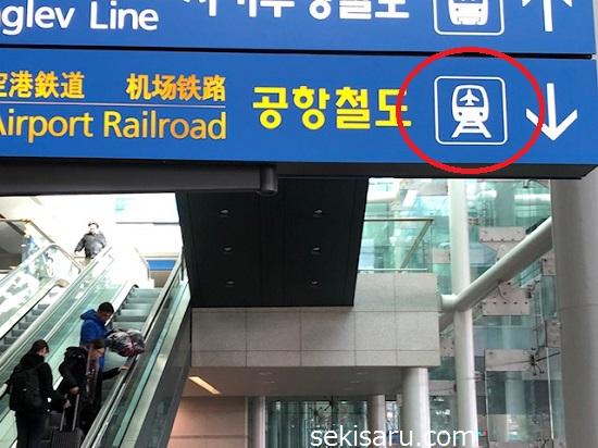空港鉄道の案内板